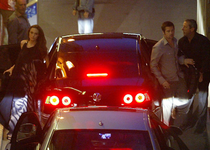 Angelina& Brad Pitt in Antibes Last Night