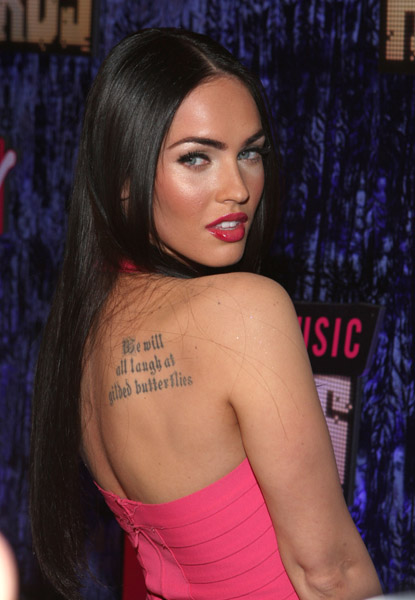 Actress Megan Fox arrives at the 2007 MTV Video Music Awards at The Palms Hotel and Casino on September 9, 2007 in Las Vegas, Nevada.