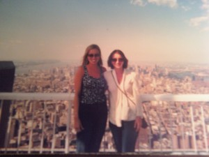 Me & My Sister Patty on Top of WTC 6 Weeks Prior to 9/11