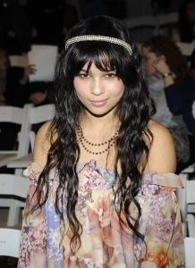 Actress Zoe Kravitz  attends Erin Fetherston Fall 2009 during Mercedes-Benz Fashion Week at The Promenade in Bryant Park on February 15, 2009 in New York City.