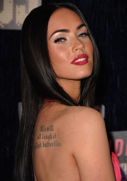 Actress Megan Fox arrives at the 2007 Video Music Awards at the Palms Casino Resort on September 9, 2007 in Las Vegas, Nevada.