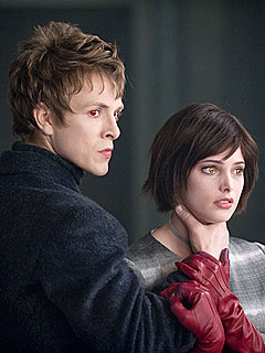 Volturi guard Demetri (Charlie Bewley) and Alice Cullen (Ashley Greene)